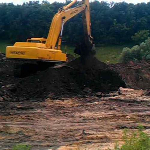 Выкопать котлован, траншеи, планировки, бассейны, озера, вывоз (завоз) грунта мусора