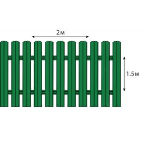 Штакетный забор  матовый двухсторонний  ПОЛИЕСТЕР