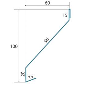 Забор жалюзи Стандарт Standart 60/100